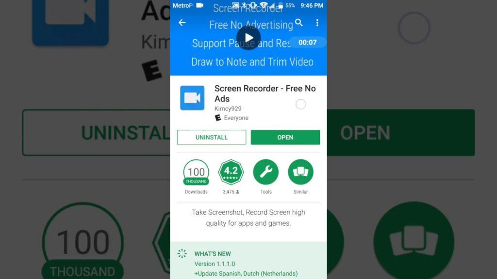 Screen Recorder - No Ads para grabar free fire