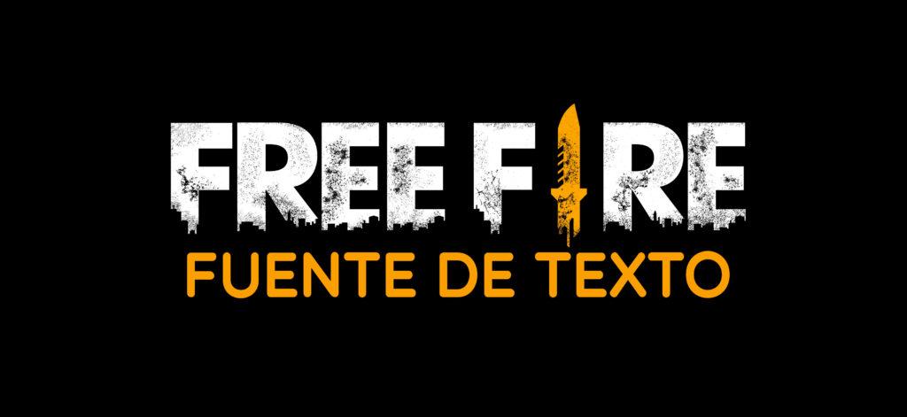 fuente de texto de Free Fire para diseños