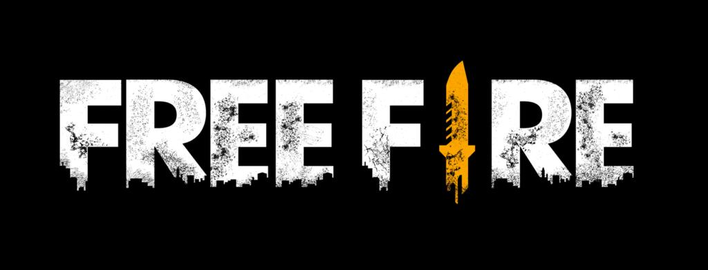 logo de free fire con fondo negro