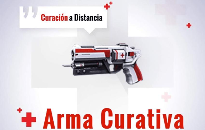 pistola curativa de free fire