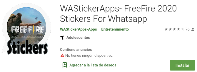 WAStickerApps FreeFire 2020